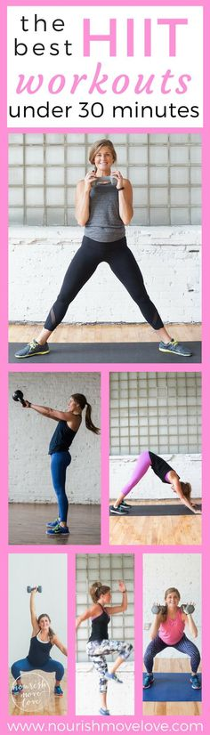 from bodyweight to kettlebells and timed intervalsto repetitions; these 8 workouts are the best high intensity interval training workouts under 30 minutes.Kettlebells, dumbbells, bodyweight, traveling workouts.