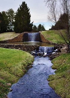 Waterfall at Airlie Conference Center, Warrenton, Virginia
