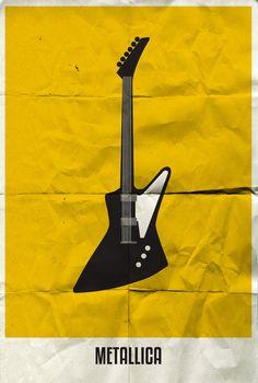 Rock band minimalist poster - Metallica