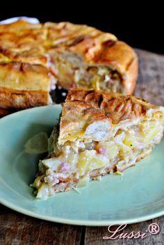 Пай с кисело зеле, бекон и картофи / Delicious Potato and Sauerkraut Pie recipe -