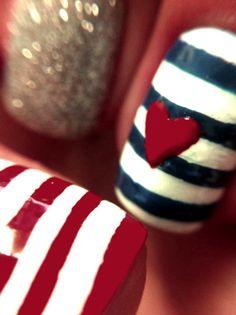 Tutorial – unha nail art fofa de marinheira por Melissa Menezes