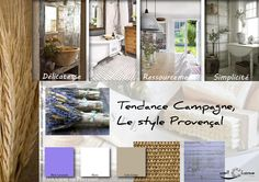 Moodboard - Déco, planche d'ambiance, tendance campagne, style provençal, réalisation well-c-home