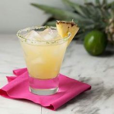 Pineapple juice adds plenty of sweetness to this no-sugar-added margarita recipe.