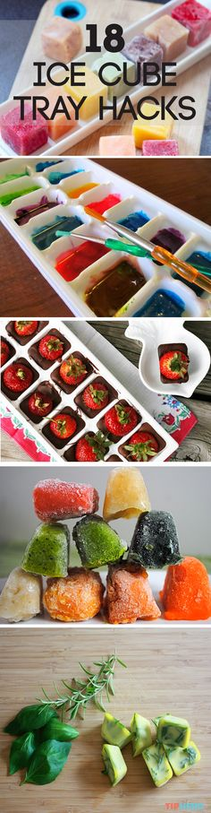 18 Ice Cube Tray Hacks | Think ice cube trays are just for ice? Think again! There are so many things you can do with this humble kitchen accessory from DIY dishwasher tablets to baby food to iced coffee cubes to seed planters, here's a collection of some of our favorite ice cube tray hacks. Got one of your own? Share it!  #diy #hacks