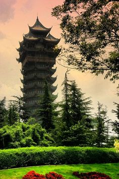 "Chengdu, Sichuan - this was the first ""outing"" my family and I went on in Chengdu.  Though ancient-looking, this tower was rebuilt in 1995."