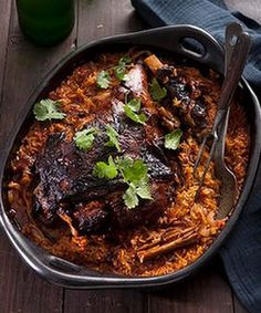 GREEK TOMATO-BAKED LAMB WITH ORZO