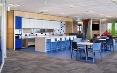 The Good Guys Fitout | By Amicus Interiors #kitchen #breakout #workplace