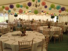 21st Birthday Party Garden Party Theme inside a Marquee Equipment