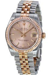 Rolex DateJust Oyster Perpetual Lady 31 Automatic Pink Rose Dial Stainless Steel and Pink Gold Ladies Watch Cool Watches, Rolex Watches, Trendy Watches, Buy Rolex, Gold Rolex, Oyster Perpetual Datejust, Rolex Datejust, Luxury Watches For Men