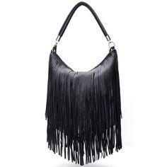 29,90EUR Tasche Handtasche schwarz mit Fransen