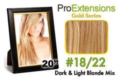 #18/22 Dark Blonde w/Light Blonde Highlights