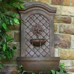 Sunnydaze Rosette Leaf Outdoor Wall Fountain- Multiple Colors & Free Shipping