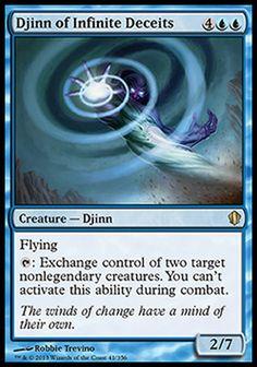 Magic the Gathering Card Reviews: Djinn of Infinite Deceits from Commander 2013 - #mtg