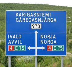 Utsjoki road sign - Utsjoki – Wikipedia