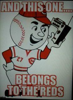 Red listening to Radio Greeneville Cincinnati Reds Baseball, Indianapolis Colts, Cincinnati News, Cincinnati Skyline, Baseball Memes, Baseball Cards, Baseball Stuff, Sports Art, Nfl Sports