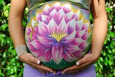 Belly Art Loving Lotus Prenatal Art/ Belly Paint www.heatherslivingart.com
