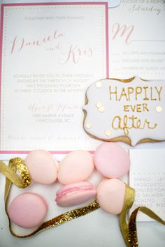 Blush and gold wedding invitations   Maru Photography   see more on: http://burnettsboards.com/2014/08/hidden-garden-bridal-inspiration/