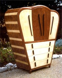 Blues Box Deco Armoire by Louis Fry Craftsman in Wood at custommade.com.