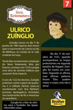 Ulrico zuinglio Luther, Reformed Theology, Bible Stories, Mythology, Bible Verses, Language, Study, Faith, History