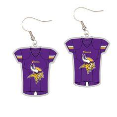 Minnesota Vikings WinCraft Women's Jersey Dangle Earrings