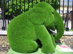 Elephant plant sculpture