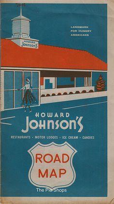 Howard Johnson's Road Map 1954