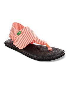 Look what I found on #zulily! Neon Orange Yoga Sling Sandal - Women by Sanuk #zulilyfinds