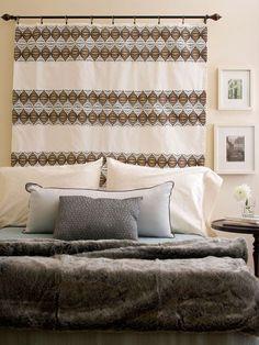 Fabric headboard. Brooke's room. ?