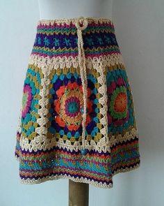 Waist Skirt, High Waisted Skirt, Knit Crochet, Crochet Cardigan, Crochet Designs, Boho Fashion, Needlework, Skirts, Cardigan Pattern