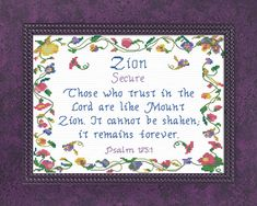 Zion - Name Blessings Personalized Cross Stitch Design from Joyful Expressions Cross Stitch Designs, Cross Stitch Patterns, Giving Thanks To God, Biblical Names, Baby Month Stickers, Color Kit, Name Design, Interesting Quotes, Names With Meaning
