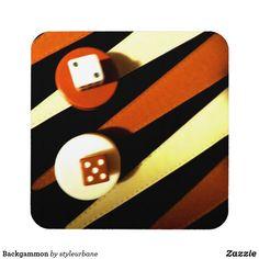 Backgammon Drink Coaster