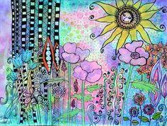 Zentangle Art by Gloria Jean Keller                 Sunny day