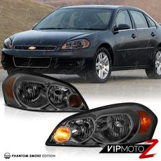 Smoke 2006 2017 Chevy Impala Tinted Front Headlight Embly 06 07 Monte