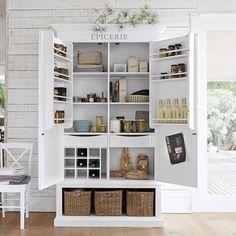 Vorratsschrank aus Holz, B 95 cm, weiß | Maisons du Monde