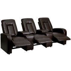 Create an inviting viewing area with the help of the Flash Furniture Eclipse Series Reclining Black Leather Theater Seating Unit with Cup Holders. At Home Movie Theater, Home Theater Seating, Theater Rooms, Cinema Room, Theater Seats, Contemporary Theatre, Theater Recliners, Entryway Furniture, Media Furniture