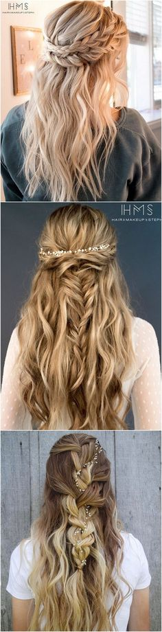 half up half down wedding hairstyles for 2018
