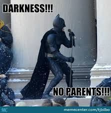 Batman singing the batman song. Lol