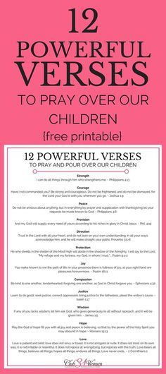 12 powerful bible verses to pray over our children