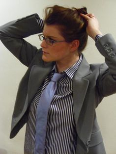 Would you wear a tie to work? Women can rock ties too.