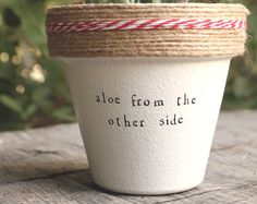 Browse unique items from PlantPuns on Etsy, a global marketplace of handmade, vintage and creative goods. Aloe from the other side