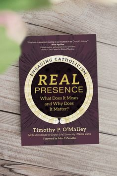 In Real Presence, University of Notre Dame theologian Timothy P. O'Malley clears up the confusion by explaining the biblical origins and long tradition of the Church's doctrines of real presence and transubstantiation. He also explores the spiritual practices necessary to form us to recognize Christ in the Eucharist and to see the Lord in others. Divine Revelation, Catholic Books, Church History, Eucharist, Spiritual Practices, Learn To Love, Confusion, Origins, Notre Dame