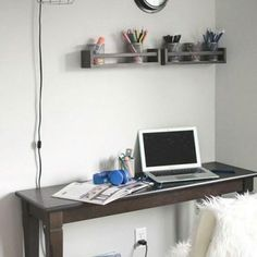 There's no need to spend on expensive organizer and racks for your mini station. Instead add supply storage on a shoestring, using spice racks from IKEA. For more ideas, click through!