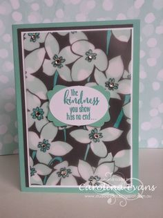 The Crazy Crafters March Blog Hop - NEW Saleabration Products Sheer Perfection Vellum, Nature's Perfection Stamp, Coastal Cabana In Color, bling, Stampin' Up! a creation by Carolina Evans 2015  #stampinup