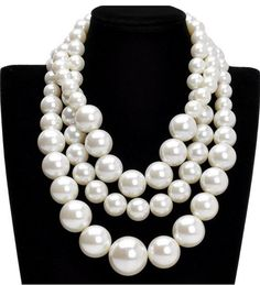 faux pearl beads. Statement making necklace that I love