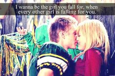 I wanna be the girl you fall for, when every other girl is falling for you. <3