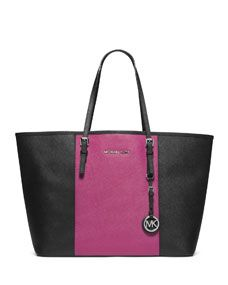 MICHAEL Michael Kors  Medium Jet Set Travel Striped Multifunction Tote