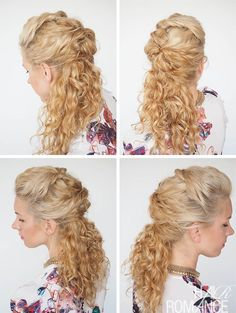 30 Curly Hairstyles in 30 days – Day 7 #curlyhairromance