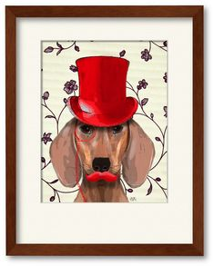 Courtside Market Wall Decor Dachshund With Red Top Hat