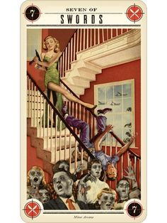 Zombie Tarot www.fb.com/madamastrology offers- Complete Free #Natal-Chart and Free #Tarot Readings!