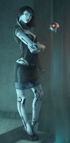 "Anthropomorphic Synthetic (""Synth"") Human Robot. (Sona Companion AI by NikolayAsparuhov on DeviantArt)"